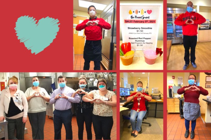 American Heart Month with associates