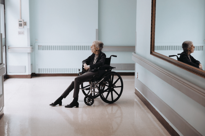 resident in a wheelchair