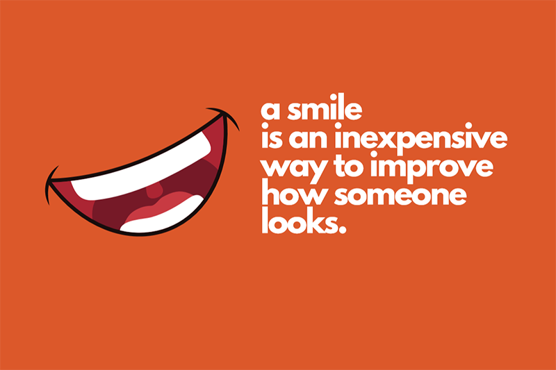 Smiling can improve how someone looks